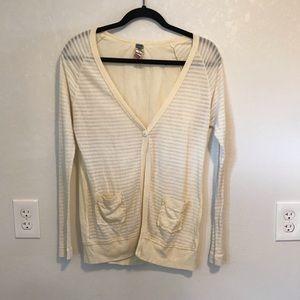 Free People Pale Yellow Sweater